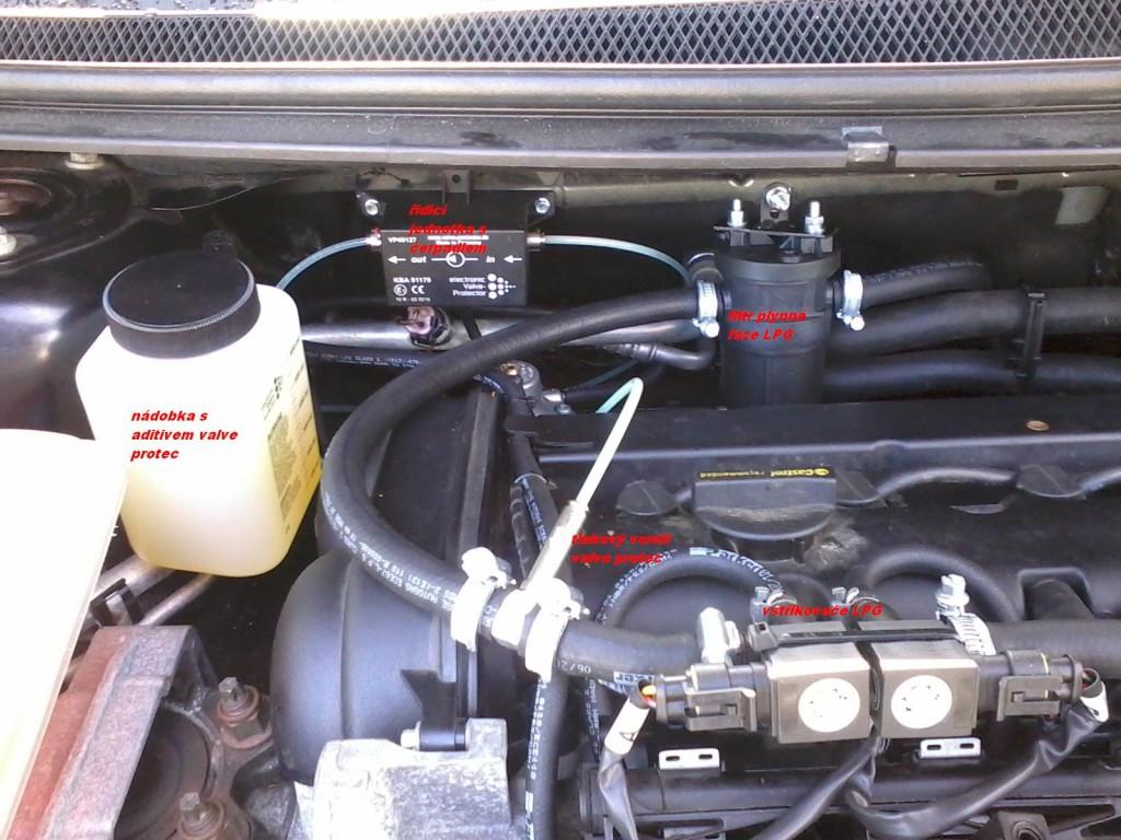 tlakové přimazávání motorů - ochrana ventilů